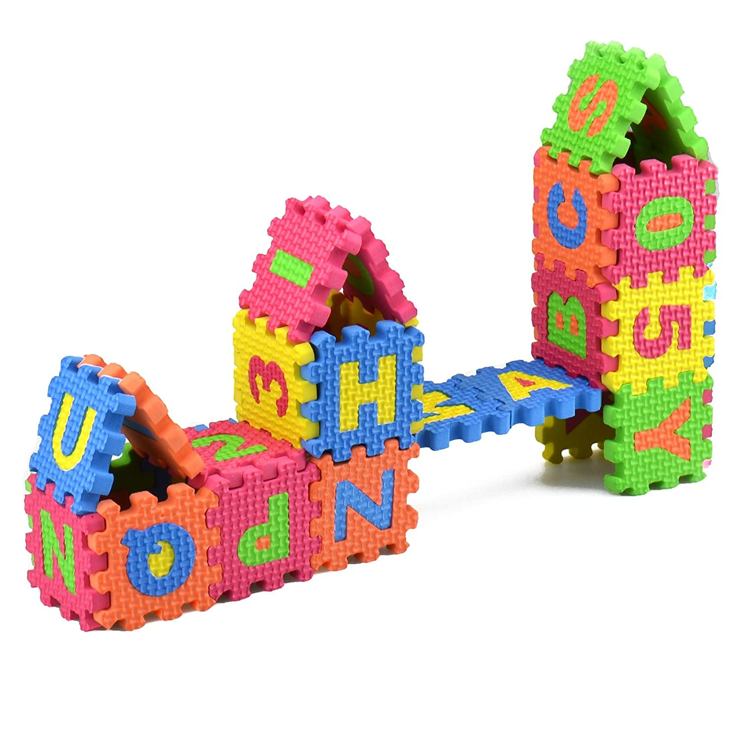 Baby Colorful EVA Foam Alphabet Letters Numbers Mat Jigsaw Puzzle Meawmeaw Store