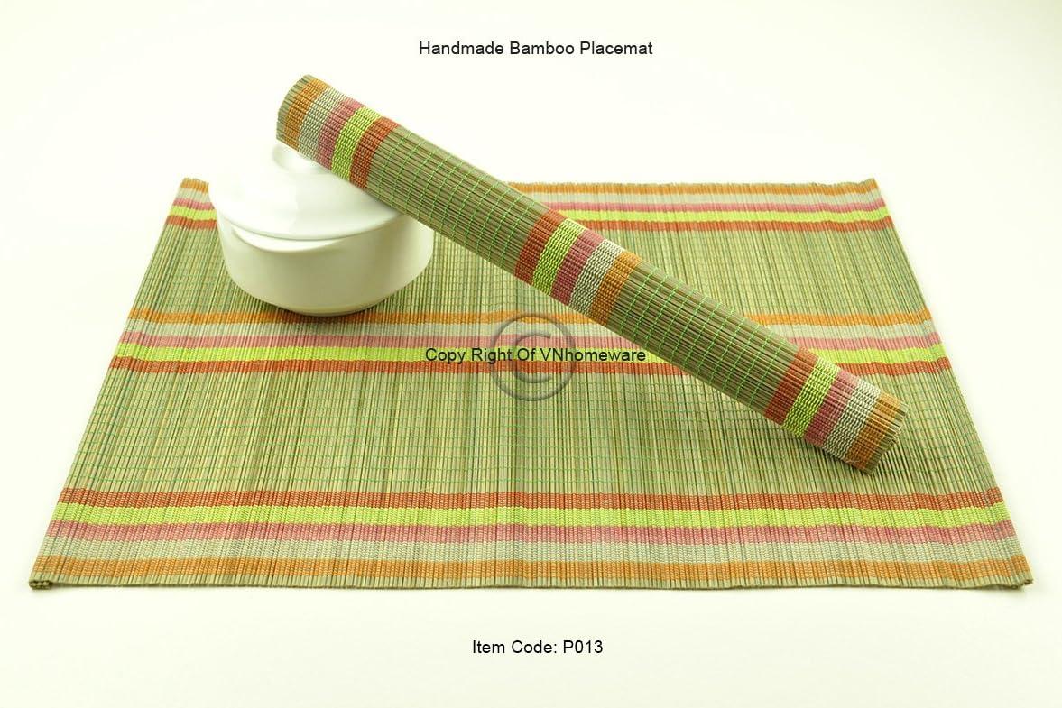 sets de table P013 Lot de 6 vert sauge 6/faite /à la main en bambou Sets de table