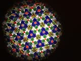 N & J Kaleidoscope in Solid Teak Wood, Inlaid