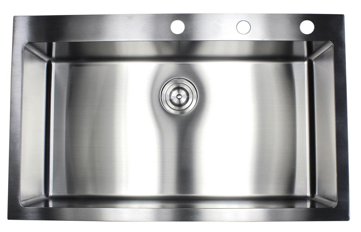 36 Inch Topmount Drop In Stainless Steel Single Bowl Kitchen Sink 15mm Radius Design 16 Gauge with Accessories