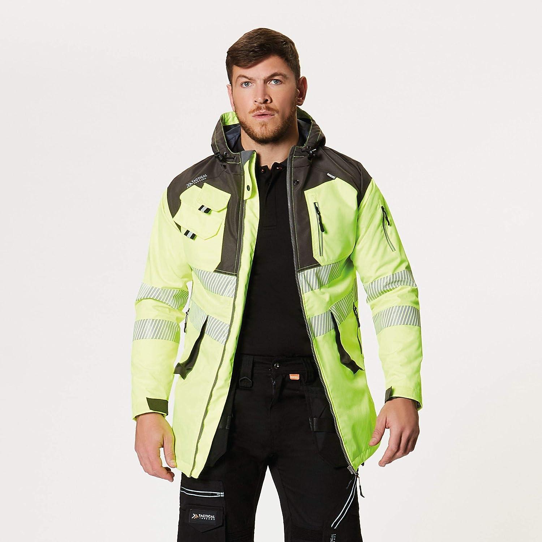 Tactical Threads Mens Hi Vis Waterproof Workwear Jacket