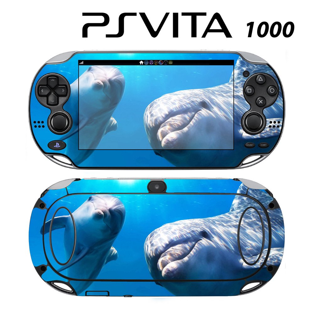 Decorative Video Game Skin Decal Cover Sticker for Sony PlayStation PS Vita (PCH-1000) - Cute Dolphin