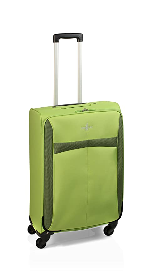 Maleta de viaje de 4 ruedas, 60 cm, 56 L, Green de John ...