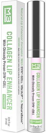 M3 Naturals Collagen Lip Enhancer Clinically Proven Natural Peppermint Lip Plumper
