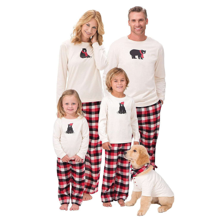 Hibote Ensemble de Pyjamas de Noël Assorti de Famille - vêtements de Nuit pour Les Enfants de Maman de Papa X171112SDSY02-X