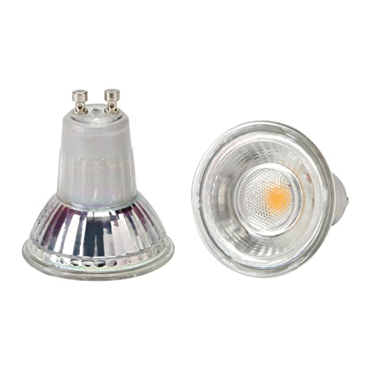RUND 490 Lumen 6 Watt Glas COB LED 230 Volt//GU10 5t befahrbar Warmweiss Bodeneinbaustrahler Calypso