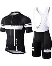 1461a9098 ... Shirt Bib Shorts with 3D Gel Padded · INBIKE Men s Cycling Jersey Set Moisture  Wicking Breathable Quick-Dry Full Zip Short Sleeve Bike