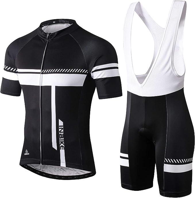 INBIKE Ropa Conjunto Traje Equipacion Ciclismo Hombre Verano con 3D Acolchado De Gel, Maillot Ciclismo + Pantalon/Culote Bicicleta para MTB Ciclista Bici: Amazon.es: Deportes y aire libre