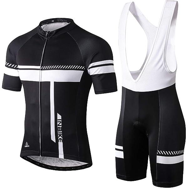 INBIKE Maillot Ciclismo Corto De Verano para Hombre, Ropa Culote Conjunto Traje Culotte Deportivo con 3D Almohadilla De Gel para Bicicleta MTB Ciclista Bici(Blanco,XL): Amazon.es: Deportes y aire libre