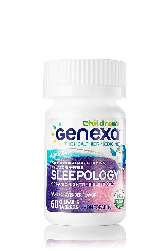 Genexa Auxiliar para dormir orgánica sin melatonina, formulado por ...