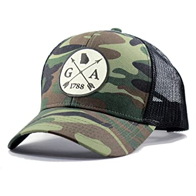 6fae81b4faa Homeland Tees Men s Georgia Arrow Patch Army Camo Trucker Hat - Army Camo