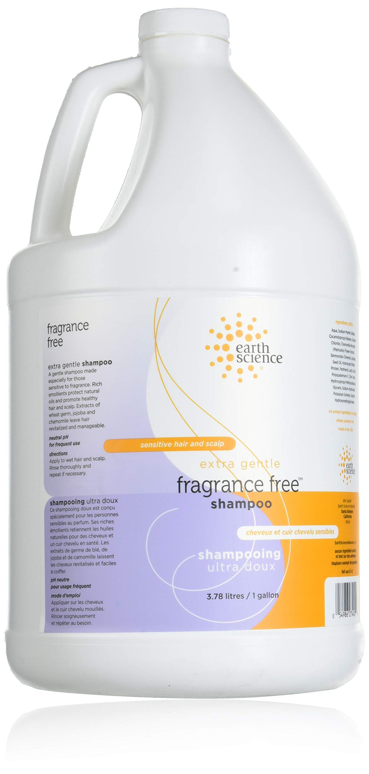 Earth Science Fragrance Free Shampoo, 1 Gallon by Earth Science