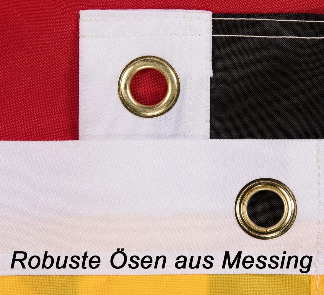 Germania con Aquila in nylon 150 x 90 cm Bandiera grande del Regno Unito Lixure per interni ed esterni 3ftx2ft