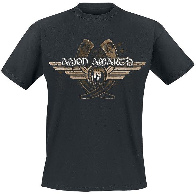 Amon Amarth Horns Camiseta Gris Marengo/Negro 46Kj0J