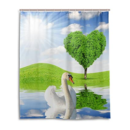 Image Unavailable Not Available For Color Swan Shower Curtain