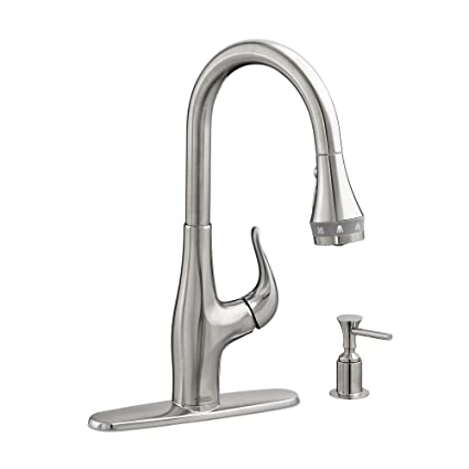 american standard 9449301075 xavier selectflo pull down kitchen faucet stainless steel - American Standard Kitchen Faucets