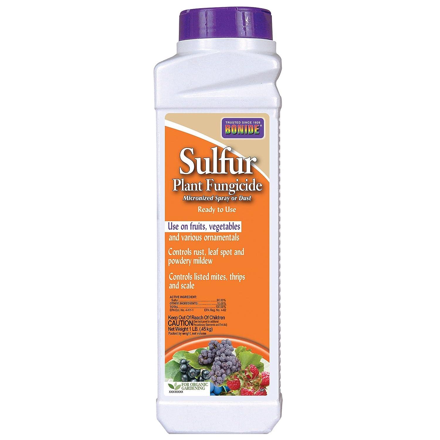 Amazon.com : BONIDE PRODUCT 141 SULFUR PLANT FUNGICIDE, 1 POUND ...
