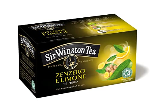 10 opinioni per Sir Winston Tea Infusione per Bevande Calde, Zenzero Limone RFA- 20 Filtri [35