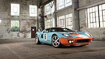 Amazon Com 2006 Ford Gt Heritage Edition Car Poster Print