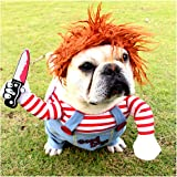 NACOCO Dog Awful Costume Pet Halloween Clothes Cat Cosplay Party Suit Funny Dog Costume Small to Large Dogs(S)