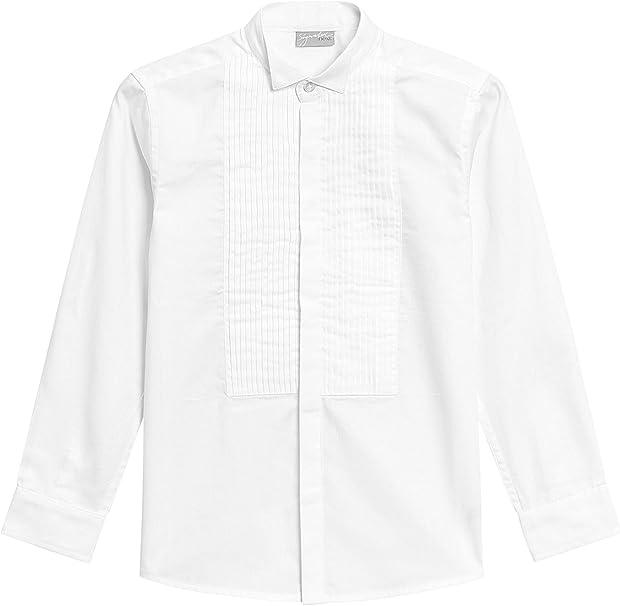 next Niños Camisa con Cuello Pajarita Y Manga Larga (12 Meses - 16 Años) Blanco 9 años: Amazon.es: Ropa y accesorios