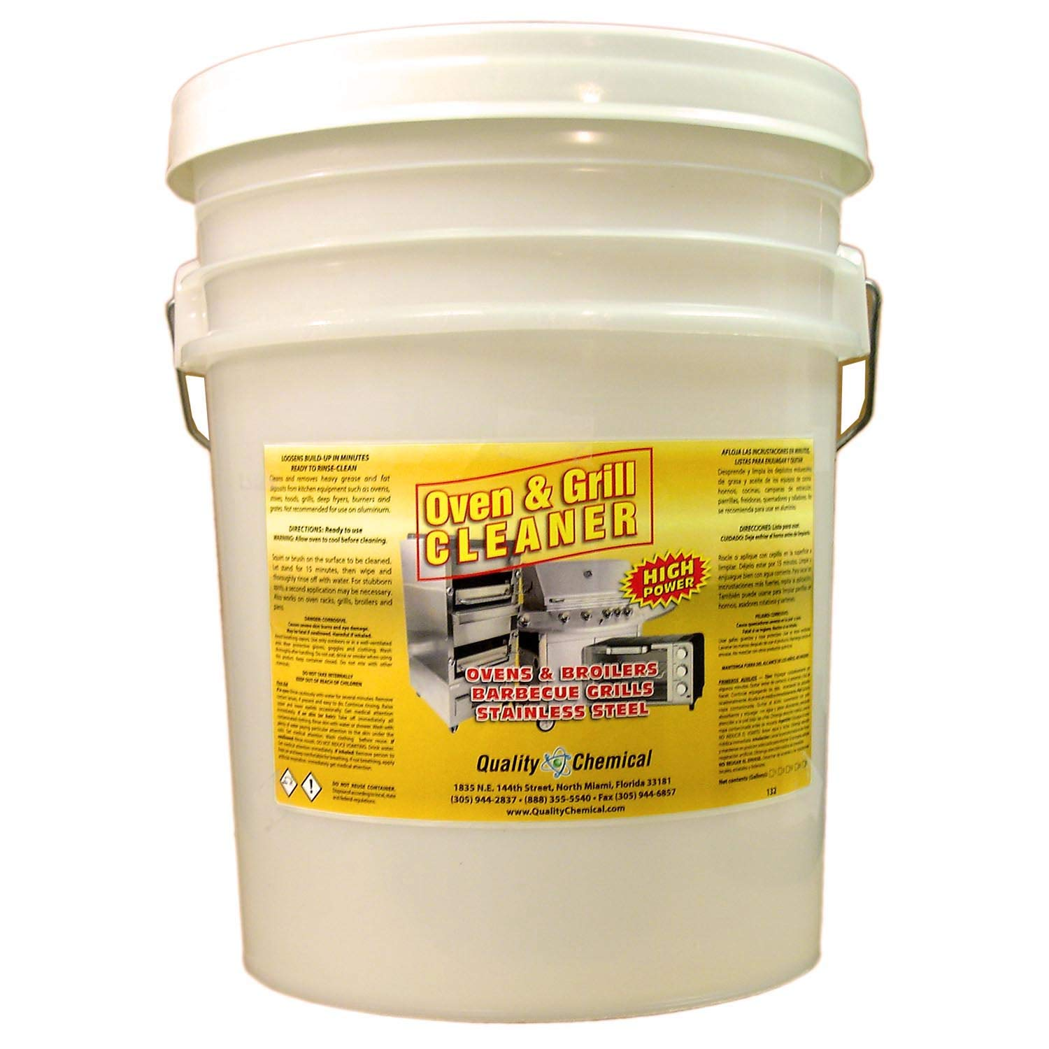 Oven & Grill Cleaner Heavy-Duty. High Power! Nothing Stronger.-5 gallon pail by Quality Chemical (Image #1)