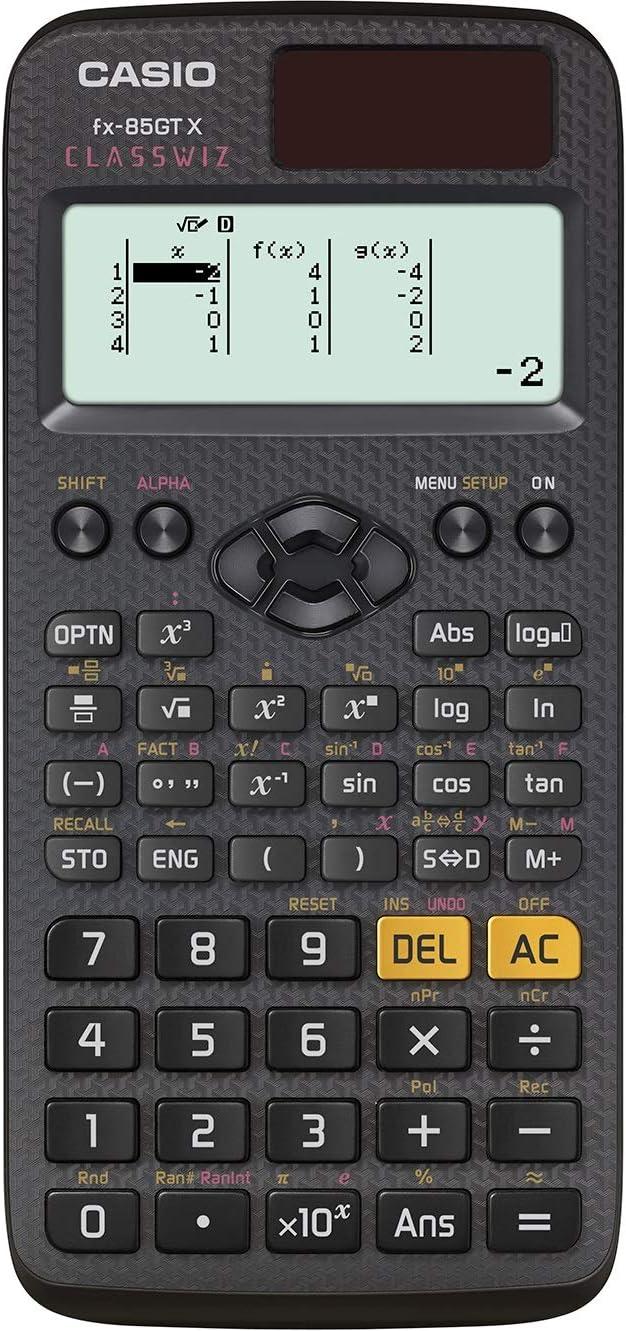 Casio fx-85GTX - Calculadora científica, Color Negro