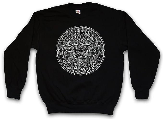 c4a237880a02 Urban Backwoods Aztec Mandala Sweatshirt Pullover Sweater Sweat - Azteken  Indians American Mayans Maya Sign Calendar Mexico Sizes S - 3XL   Amazon.co.uk  ...