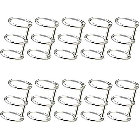 Amazon.com: 10 anillas sueltas para libros, 3 anillas, 0.787 ...