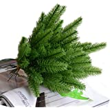 Taloyer 10Pcs Artificial Flower Pine Branches Christmas Tree Fake Plants Ornaments Simulation Shooting Props