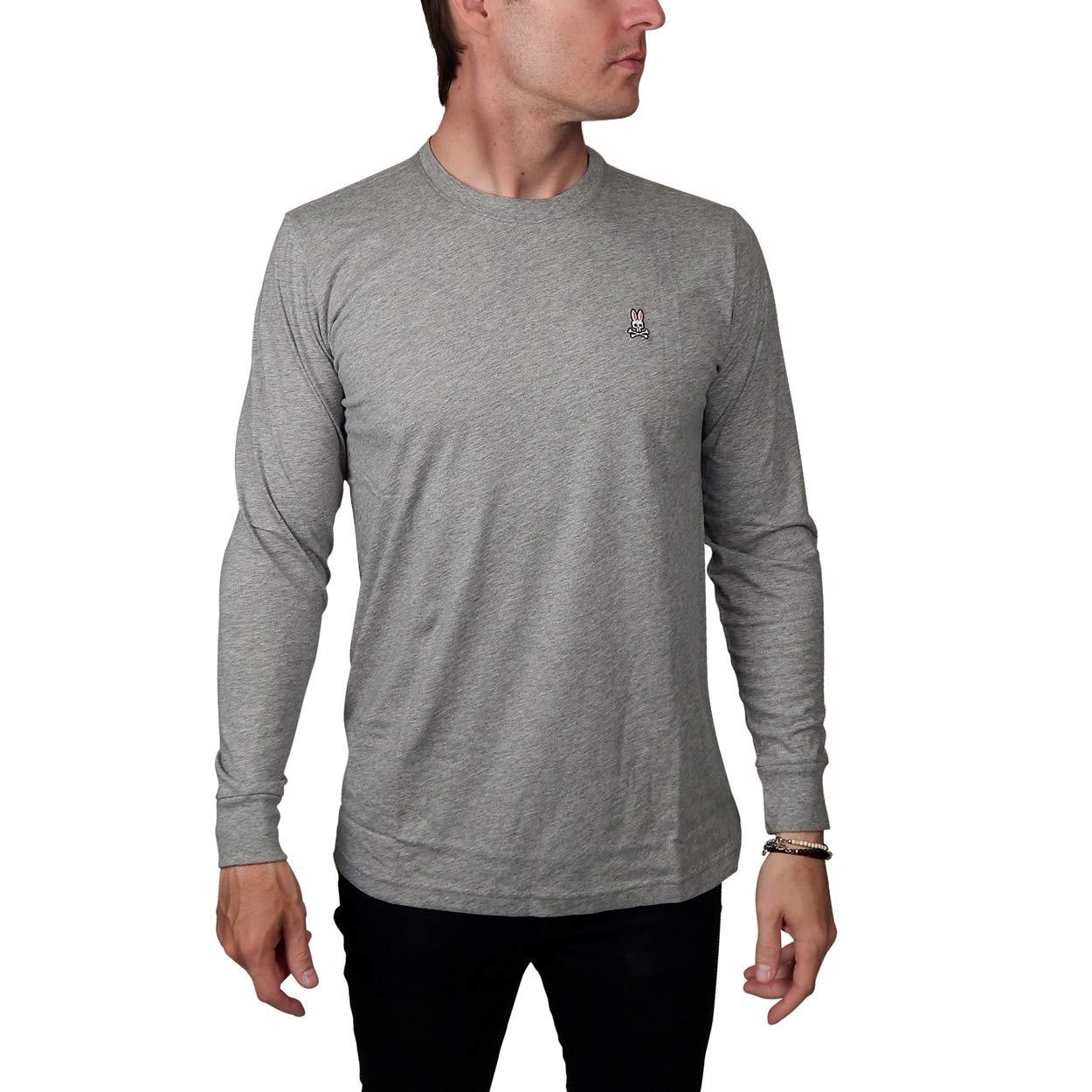 Psycho Bunny Mens Psycho Long Sleeved T-Shirt in Heather Grey