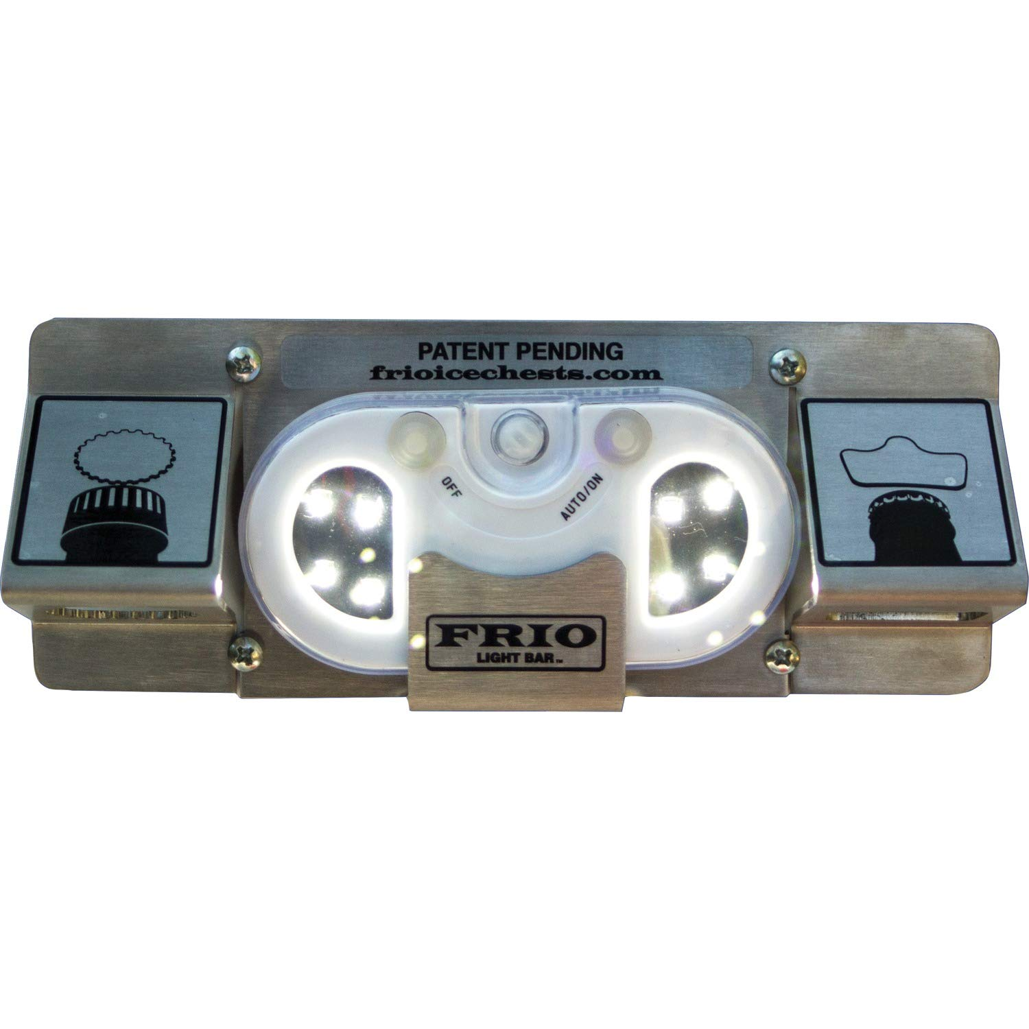 Frio Ice Chests Light Bar with Motion Sensitive Magnetic Light and Standard and Twist Off Bottle Openers, Works Well with Almost Any Coolers by Frio Ice Chests