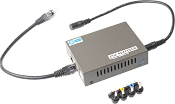 Injector PoE Splitter Gigabit Network-Repeaters Wall Mountable Adjustable Voltage Output PoE Powered IEEE 802.3af//at Compliant POE