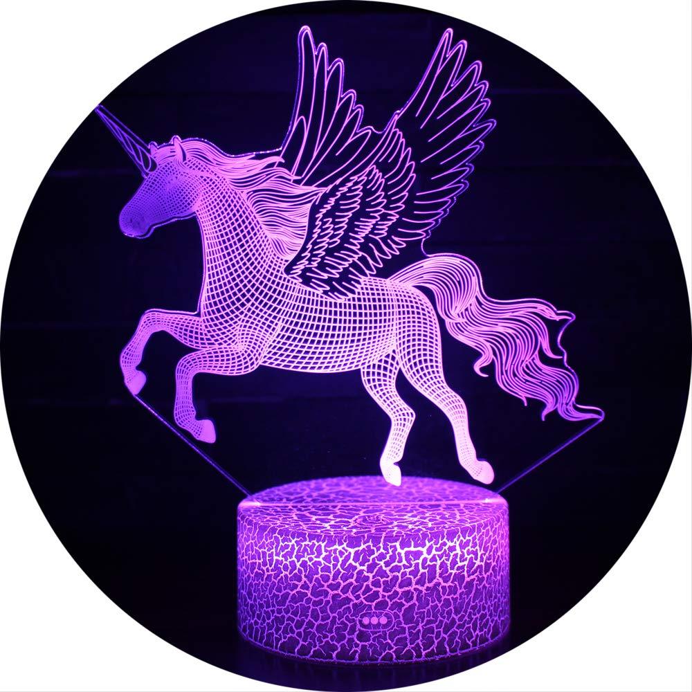 Ray-Velocity 3D Einhorn Illusion Lampe Nachtlicht optische T/äuschung Lampe Schreibtischlampe Tischlampe 7 Farben f/ür Schlafzimmer Kinder Weihnachts Valentine Geburtstag geschenk A5