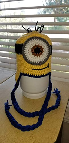 Amazon Hand Crochet Minion Beanie Hat Child Handmade