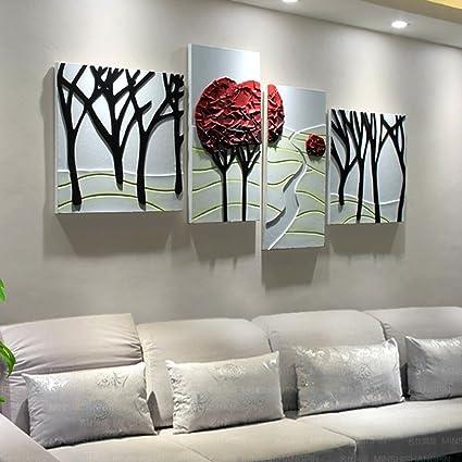 Pinturas Murales Pinturas Murales De Telon De Fondo De Sala De Estar - Cuadros-modernos-con-relieve
