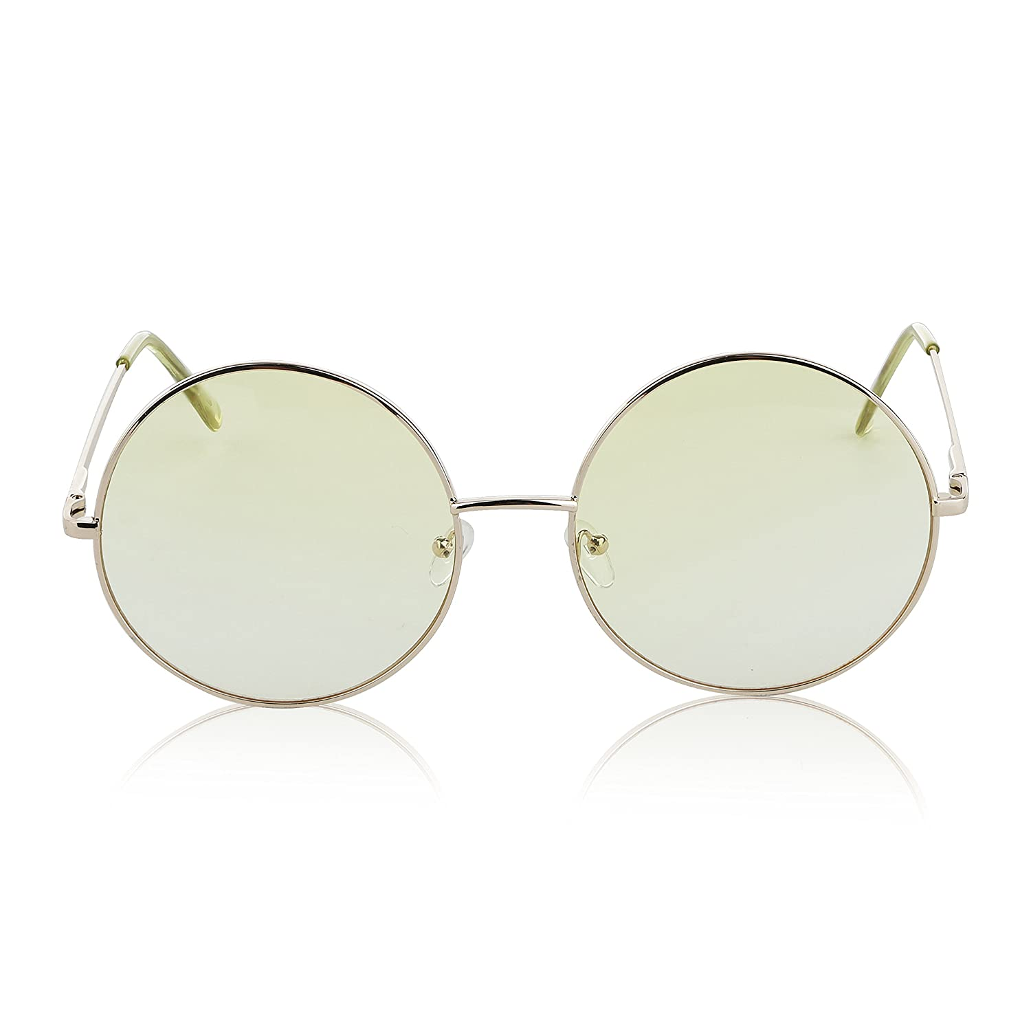 a8bcceee4 Amazon.com: Super Oversized Round Sunglasses Hippie Retro Circle Glasses 2  pack Brown Yellow: Clothing