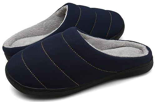 DAFENP Zapatillas de Casa Hombre Mujer Invierno Caliente Forro Polar Slippers Suave Interior Al Aire Libre Zapatos: Amazon.es: Zapatos y complementos