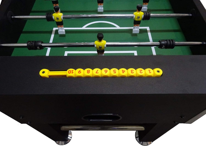 Buckshot Futbolín Negro Woodcounters Mesa De Futbol Incluyendo 2 Bolas - MDF Kabinett - Robusto 60kg - 141 x 77 x 89 cm: Amazon.es: Deportes y aire libre