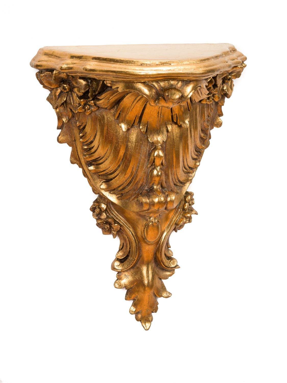 Stile barocco antico Console mensola staffa a muro Mensola Wandboard colori oro aubaho