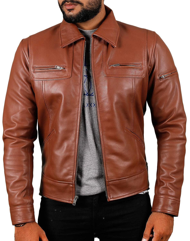 Laverapelle Men's Black Genuine Lambskin Leather Jacket - 1510200
