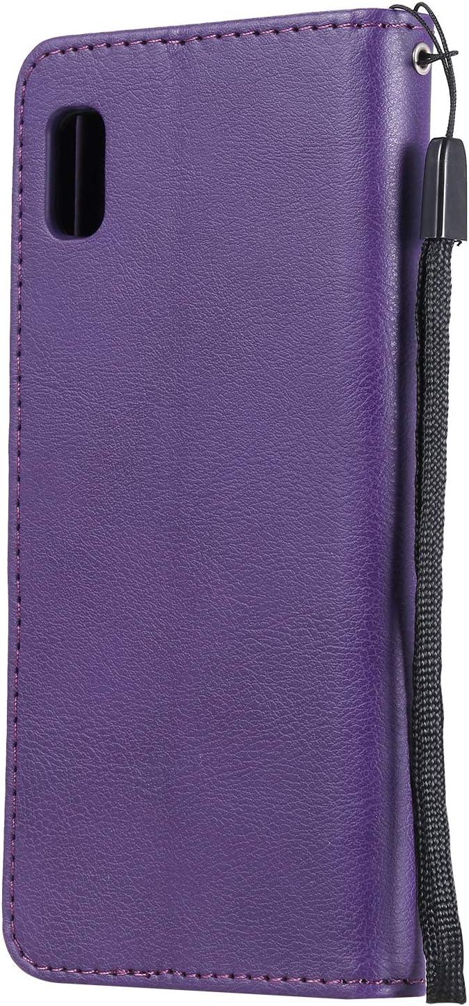 DOKTU100327 Nero Cover in Pelle Funzione di Stand Slot per Schede Antiurto Leather Case Cover per Samsung Galaxy A10e Docrax Custodia Galaxy A10e Portafoglio