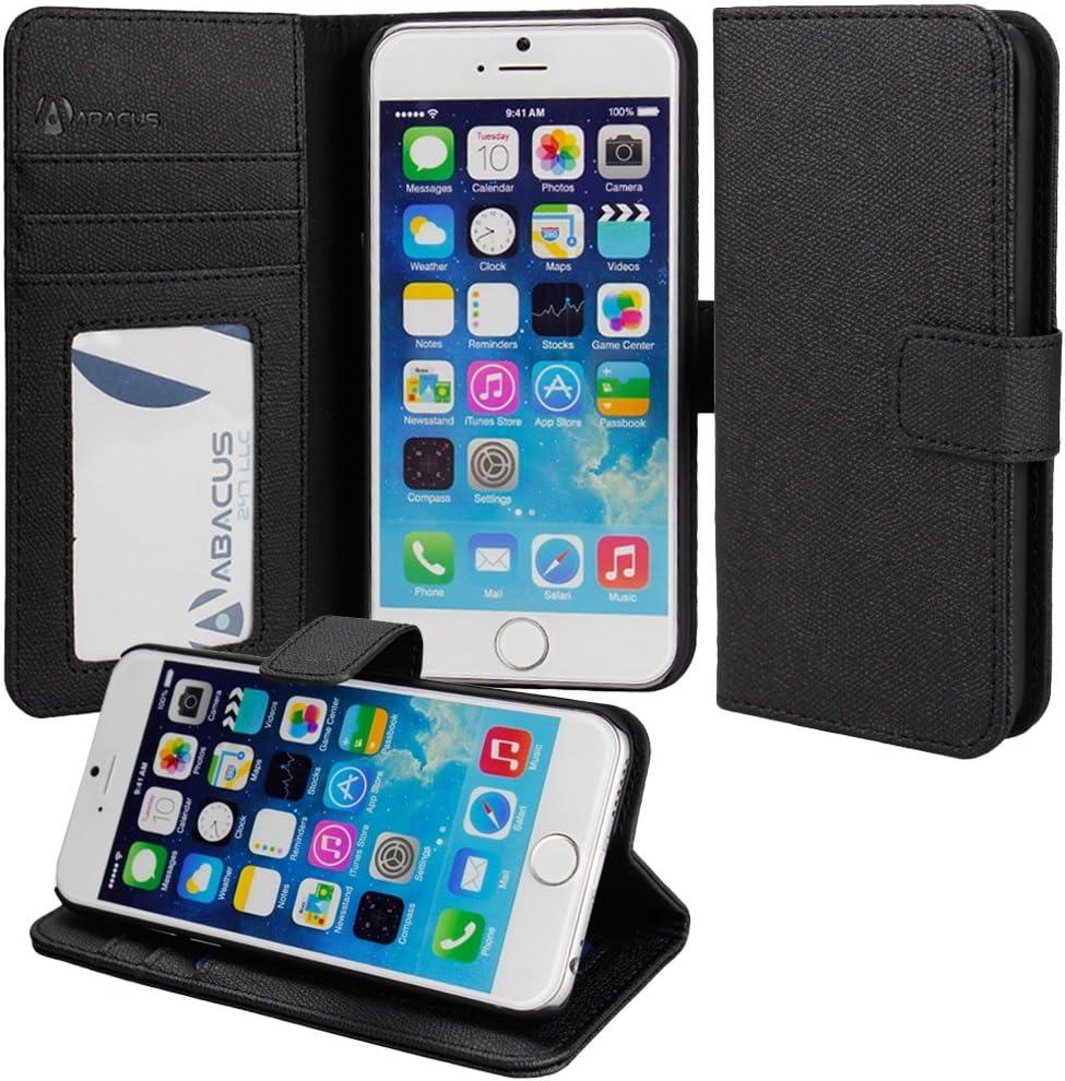 Abacus 24-7® Apple iPhone 6 Plus Funda flip/ Funda de cuerina con cierre magnético y función de soporte: Amazon.es: Electrónica