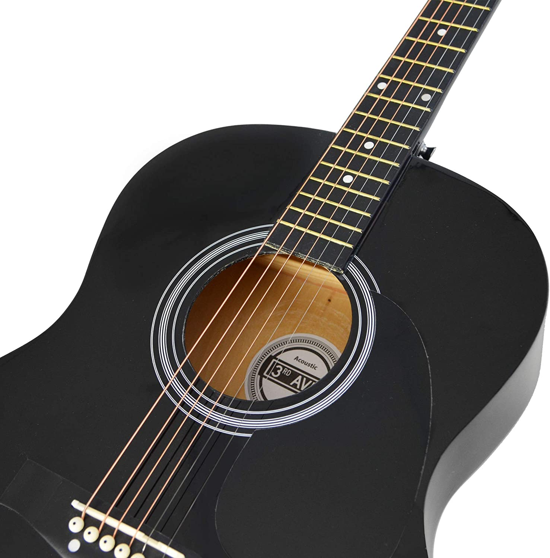3rd Avenue STX10ABKPK Paquete de guitarra acústica, Negro ...