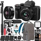 Panasonic DC-G100KK LUMIX G100 Mirrorless 4K Vlogging Camera with 12-32mm F3.5-5.6 Lens 3 Battery Bundle Deco Gear…