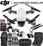DJI Spark Portable Mini Drone Quadcopter (Alpine White) + DJI Spark Remote Controller Essential Bundle