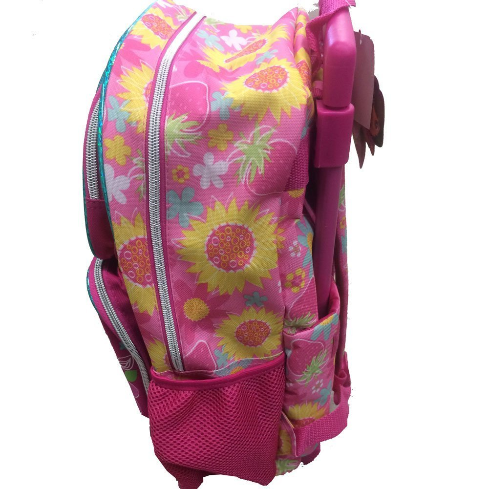 Rolling Backpack - Dora the Explorer Sunflower Pink School Bag New 635657-2 B00L3OQFZG