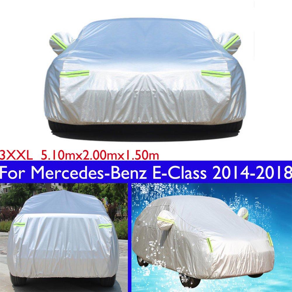 Cubierta para coche Sedan impermeable//resistente al viento//al polvo//resistente a los ara/ñazos al aire libre protecci/ón UV completo coche para Clase E 2014 2015-2020