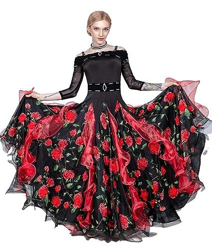 SMACO Vestido de Baile de salón Vestido de vals para Mujer ...