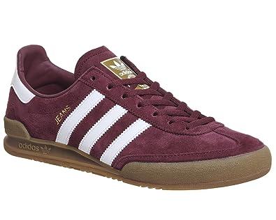 adidas Jeans, Herren Lauflernschuhe Sneakers, Rot - Maroon White - Größe:  39 1